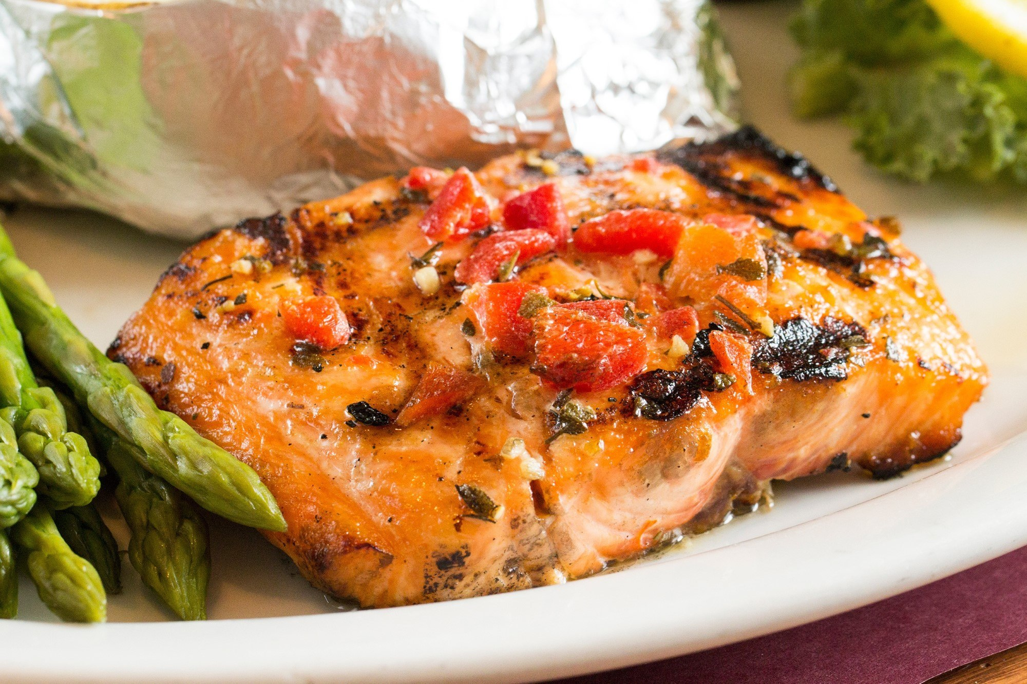 Adam's Fresh Grilled Salmon